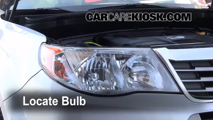 2009 Subaru Forester XT Limited 2.5L 4 Cyl. Turbo Lights Daytime Running Light (replace bulb)