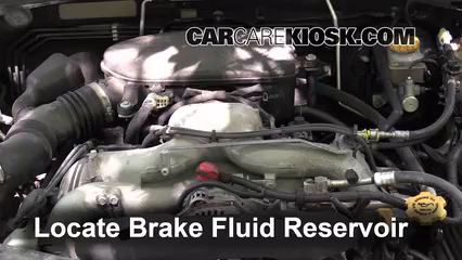 2009 Subaru Outback 2.5i Limited 2.5L 4 Cyl. Brake Fluid Add Fluid
