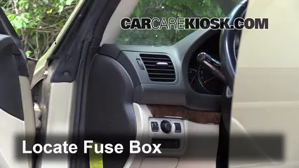 interior fuse box location: 2005-2009 subaru outback