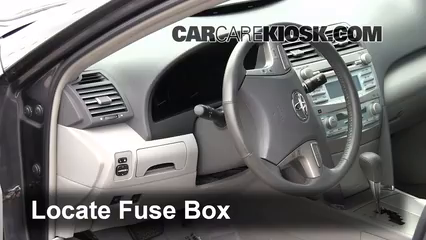 interior fuse box location 2007 2011 toyota camry 2009 toyota rh carcarekiosk com 2004 Toyota Corolla Fuse Box Location 2009 toyota corolla interior fuse box diagram
