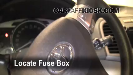 interior fuse box location: 2009-2016 toyota venza
