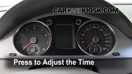 How To Set The Clock On A Volkswagen Cc 2009 2017 2009
