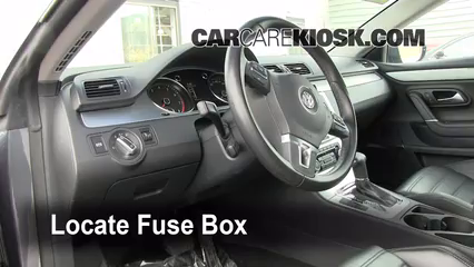 interior fuse box location 2009 2017 volkswagen cc 2009 2012 vw cc fuse box diagram locate interior fuse box and remove cover