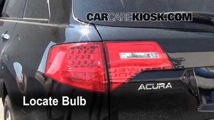 2009 Acura MDX 3.7L V6 Luces Luz de reversa (reemplazar foco)