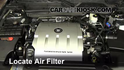 2009 Cadillac DTS Platinum 4.6L V8 Filtre à air (moteur)