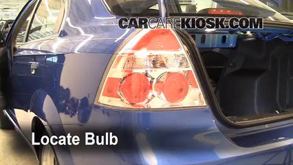 2009 Chevrolet Aveo LS 1.6L 4 Cyl. Luces Luz de giro trasera (reemplazar foco)