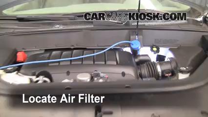 2009 Chevrolet Traverse LT 3.6L V6 Filtro de aire (motor)