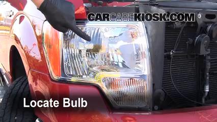 2009 Ford F-150 XLT 5.4L V8 FlexFuel Crew Cab Pickup (4 Door) Luces Luz de carretera (reemplazar foco)