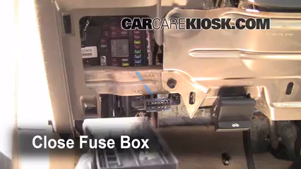Interior Fuse Box Location: 2008-2011 Ford Focus - 2009 Ford Focus SE 2.0L  4 Cyl. Sedan (4 Door)   Where Is The Fuse Box On A Ford Focus 2009      CarCareKiosk