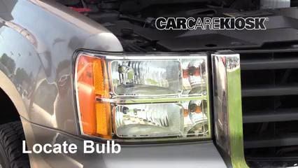 2009 GMC Sierra 2500 HD SLE 6.0L V8 Crew Cab Pickup (4 Door) Luces Luz de giro delantera (reemplazar foco)