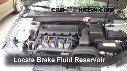 2009 Hyundai Sonata GLS 2.4L 4 Cyl. Brake Fluid