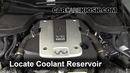 2009 Infiniti G37 X 3.7L V6 Sedan (4 Door) Coolant (Antifreeze) Fix Leaks