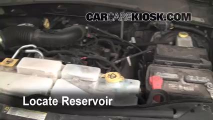 2009 Jeep Liberty Sport 3.7L V6 Líquido limpiaparabrisas Controlar nivel de líquido