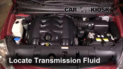 2009 Kia Sedona LX 3.8L V6 Líquido de transmisión Controlar nivel de líquido
