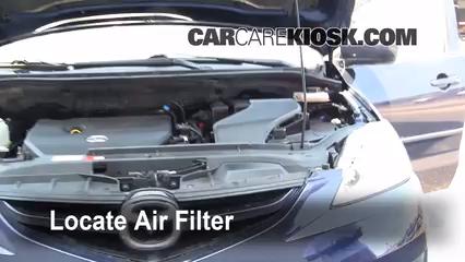 2009 Mazda 5 Sport 2.3L 4 Cyl. Filtro de aire (motor) Control