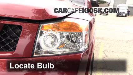 2009 Nissan Armada SE 5.6L V8 FlexFuel Luces Faro delantero (reemplazar foco)