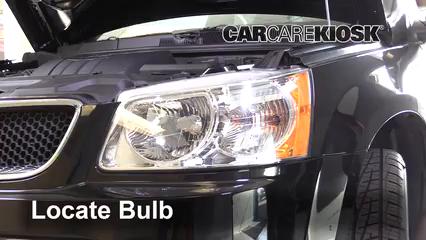 2009 Pontiac Torrent GXP 3.6L V6 Lights Turn Signal - Front (replace bulb)