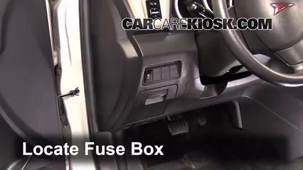interior fuse box location: 2009-2010 pontiac vibe - 2009 pontiac vibe 2.4l  4 cyl.  carcarekiosk