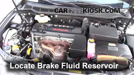 2009 Toyota Camry Hybrid 2.4L 4 Cyl. Brake Fluid Add Fluid