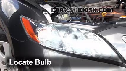 2009 Toyota Camry Hybrid 2.4L 4 Cyl. Lights Headlight (replace bulb)