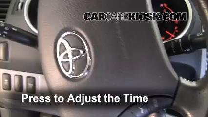 2009 Toyota Tacoma Pre Runner 4.0L V6 Crew Cab Pickup (4 Door) Reloj Fijar hora de reloj