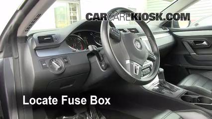 Interior Fuse Box Location 2009 2017 Volkswagen Cc 2009 Volkswagen Cc Luxury 2 0l 4 Cyl Turbo
