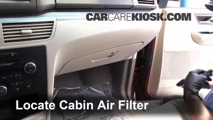 2009 Volkswagen Routan SEL 4.0L V6 Filtro de aire (interior) Cambio