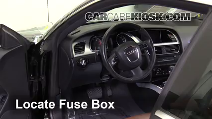 Interior Fuse Box Location 2008 2017 Audi A5 Quattro 2010 Audi A5
