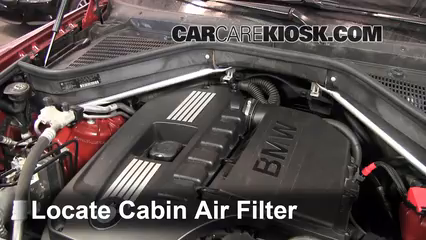 Cabin Filter Replacement: BMW X6 2008-2013 - 2010 BMW X6 ...