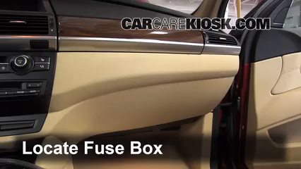 Interior Fuse Box Location 2008 2013 Bmw X6 2010 Bmw X6