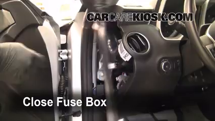 interior fuse box location: 2010-2015 chevrolet camaro - 2010 chevrolet  camaro ss 6 2l v8