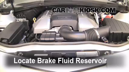2010 Chevrolet Camaro SS 6.2L V8 Brake Fluid Add Fluid