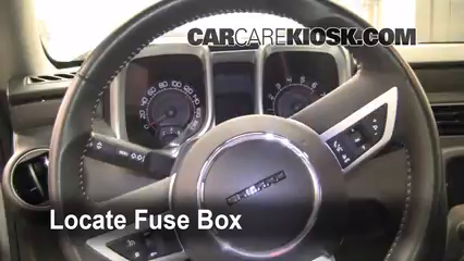 Interior Fuse Box Location: 2010-2015 Chevrolet Camaro