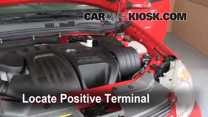 Battery Locate Part on 2008 Chevy Cobalt Battery Location