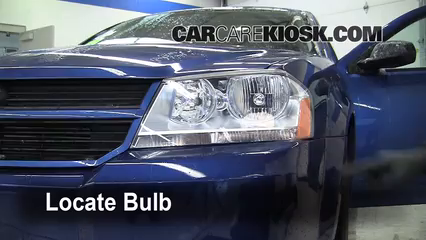 2010 Dodge Avenger SXT 2.4L 4 Cyl. Lights Headlight (replace bulb)