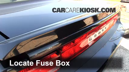 2010 dodge challenger fuse box location
