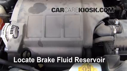 2010 Dodge Journey SXT 3.5L V6 Brake Fluid Check Fluid Level