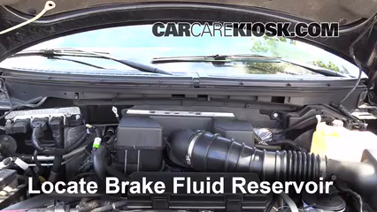 2010 Ford F-150 SVT Raptor 6.2L V8 Brake Fluid Add Fluid