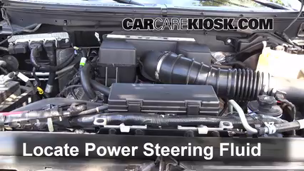 2010 Ford F-150 SVT Raptor 6.2L V8 Power Steering Fluid Check Fluid Level