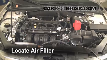 air filter how-to: 2010-2012 ford fusion - 2010 ford fusion se 2.5l 4 cyl.  carcarekiosk