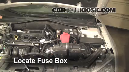 2010 Ford Fusion SE 2.5L 4 Cyl.%2FFuse Engine Part 1 replace a fuse 2010 2012 ford fusion 2010 ford fusion se 2 5l 4 2012 Ford Fusion Fuse Box Location at bakdesigns.co