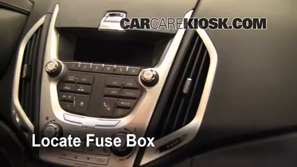 Interior Fuse Box Location: 2010-2017 GMC Terrain - 2010 GMC Terrain