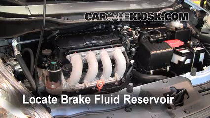 2010 Honda Fit Sport 1.5L 4 Cyl. Brake Fluid