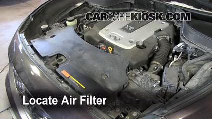 2009 2012 Infiniti FX35 Engine Air Filter Check
