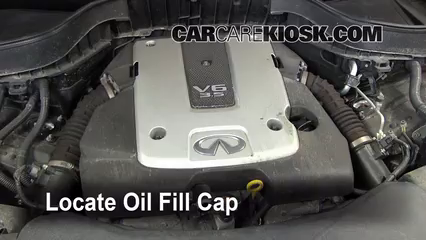 How To Add Oil Infiniti FX35 (2009 2012) Images