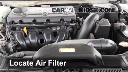 2010-2013 Kia Forte Engine Air Filter Check - 2010 Kia Forte EX 2.0L 4 Cyl.  Sedan (4 Door)CarCareKiosk