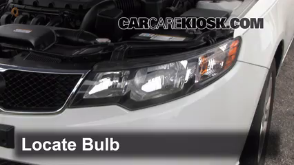2010 Kia Forte EX 2.0L 4 Cyl. Sedan (4 Door) Lights Highbeam (replace bulb)