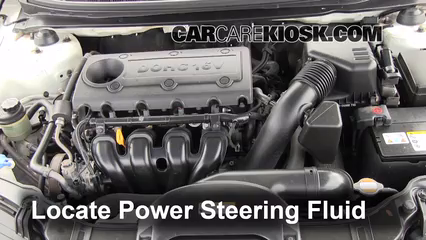 Check Power Steering Level Kia Forte 2010 2013 2010