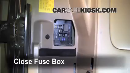 interior fuse box location: 2006-2014 kia sedona - 2010 kia sedona lx 3 8l  v6