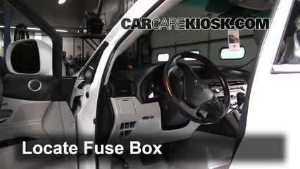 interior fuse box location: 2010-2015 lexus rx350